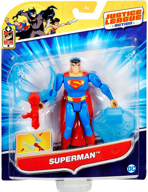 "Justice League Action JLA Power Connects Superman Action Figure [4.5""]"