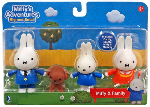 Miffy's Adventures Big & Small Miffy & Family Exclusive Figure 4-Pack