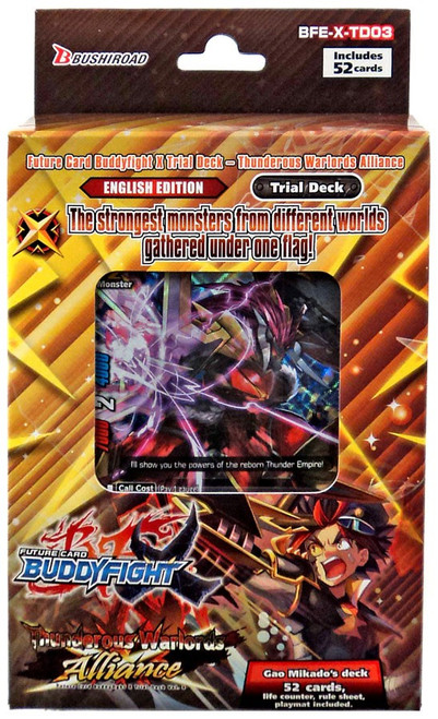 Future Card BuddyFight Trading Card Game Thunderous Warlords Alliance Vol. 3 Trial Deck BFE-XTD03