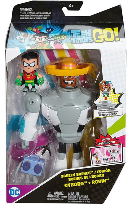 Teen Titans Go! Screen Scenes Cyborg & Robin Action Figure