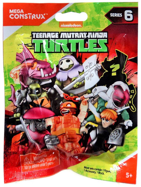 Mega Construx Teenage Mutant Ninja Turtles Animation Series 6 Mystery Pack