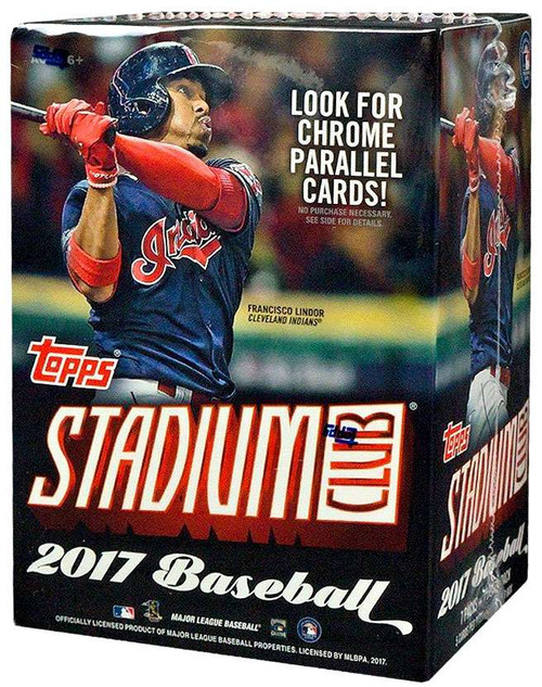 MLB Topps 2017 Stadium Club Baseball Trading Card BLASTER Box [8 Packs]