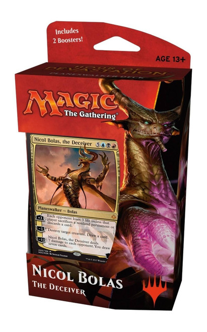 MtG Trading Card Game Hour of Devastation Nicol Bolas, The Deceiver Planeswalker Deck [Comes with 2 Booster Packs]