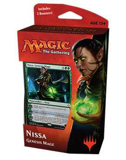 MtG Trading Card Game Hour of Devastation Nissa, Genesis Mage Planeswalker Deck [Comes with 2 Booster Packs]