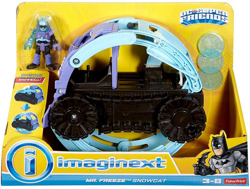 Fisher Price DC Super Friends Imaginext Mr. Freeze Snowcat 3-Inch Figure Set