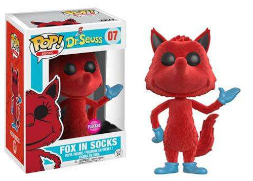 Funko Dr. Seuss POP! Books Fox in Socks Exclusive Vinyl Figure #07 [Flocked]