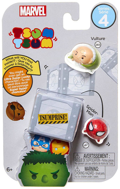 Marvel Tsum Tsum Series 4 Vulture & Spider-Man 1-Inch Minifigure 3-Pack #283 & 147