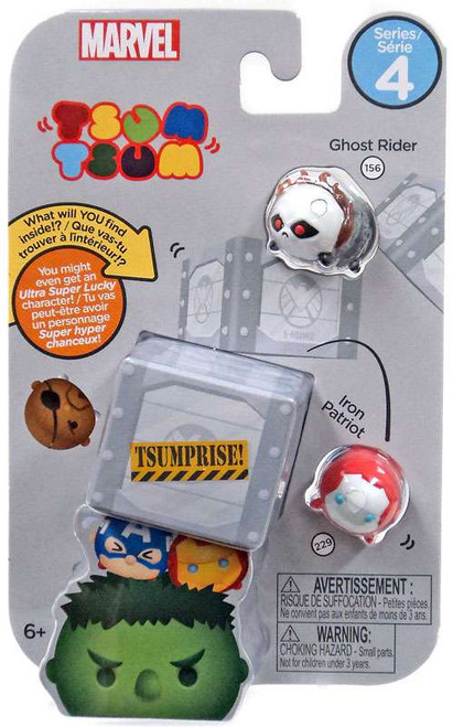 Marvel Tsum Tsum Series 4 Ghost Rider & Iron Patrot 1-Inch Minifigure 3-Pack #156 & 229