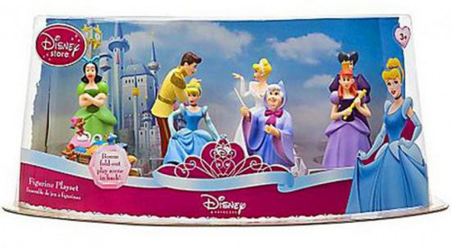 Disney Princess Cinderella Exclusive 6-Piece PVC Figure Play Set [Shoe Test]