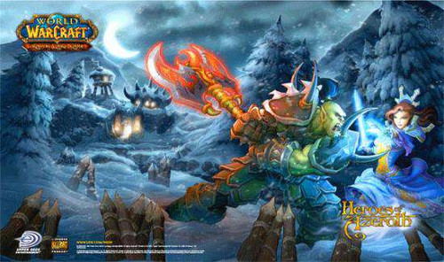 World of Warcraft Card Supplies Heroes of Azaroth Play Mat