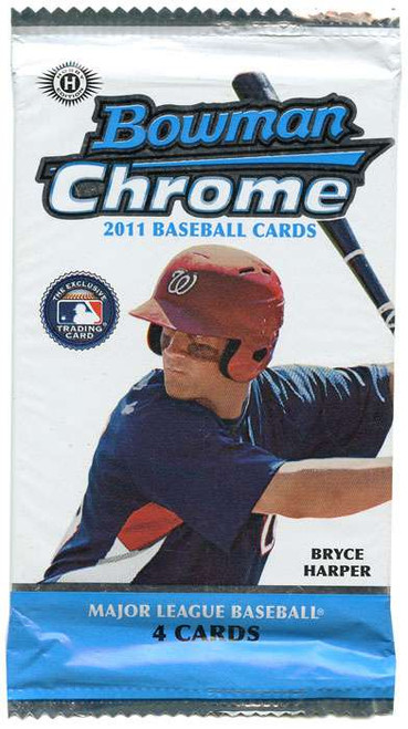 MLB 2011 Topps Bowman Chrome Baseball Cards Trading Card HOBBY Pack