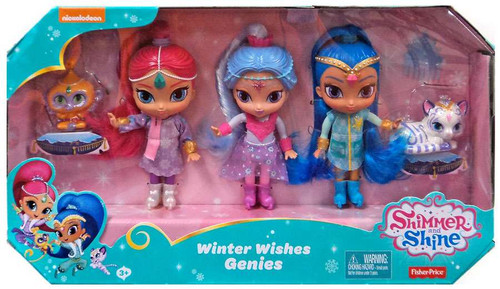 Fisher Price Shimmer & Shine Winter Wishes Genies 6-Inch Basic Doll 3-Pack