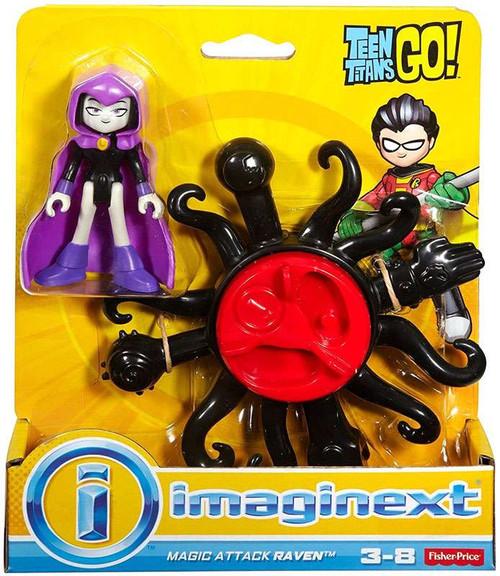 Fisher Price Teen Titans Go! Imaginext Magic Attack Raven 3-Inch Figure Set