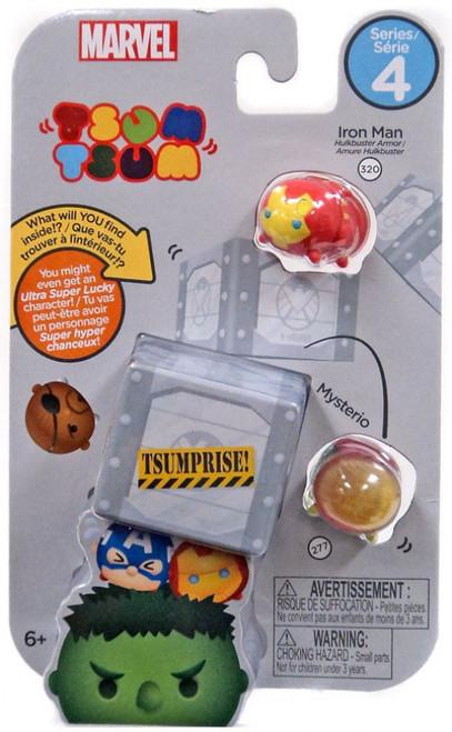 Marvel Tsum Tsum Series 4 Iron Man (Hulkbuster) & Mysterio 1-Inch Minifigure 3-Pack #320 & 277