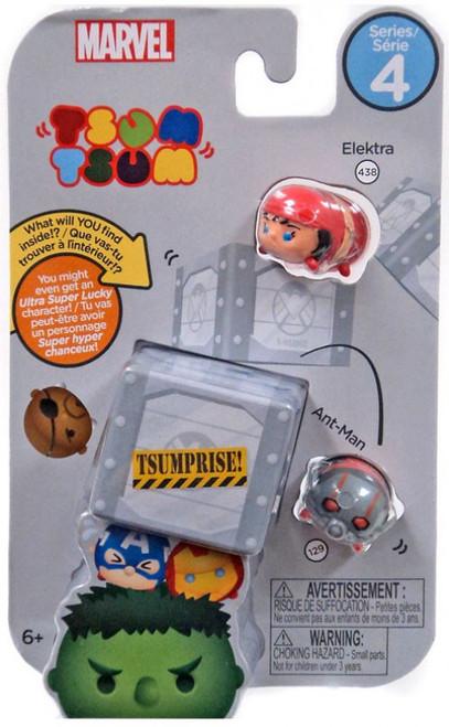 Marvel Tsum Tsum Series 4 Elektra & Ant-Man 1-Inch Minifigure 3-Pack #438 & 129