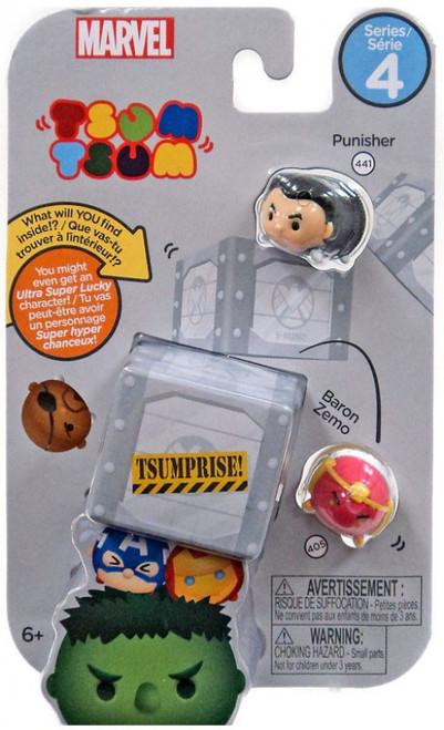 Marvel Tsum Tsum Series 4 Punisher & Baron Zemo 1-Inch Minifigure 3-Pack #441 & 405