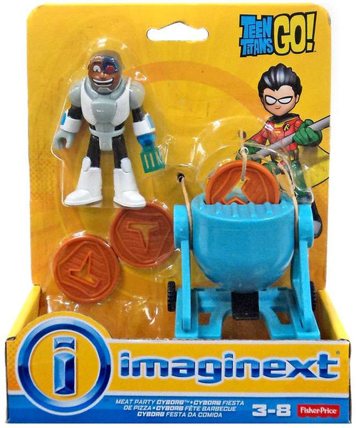 Fisher Price Teen Titans Go! Imaginext Meat Party Cyborg 3-Inch Figure Set