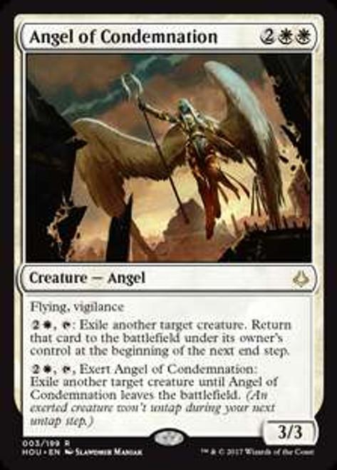 MtG Hour of Devastation Rare Angel of Condemnation #3