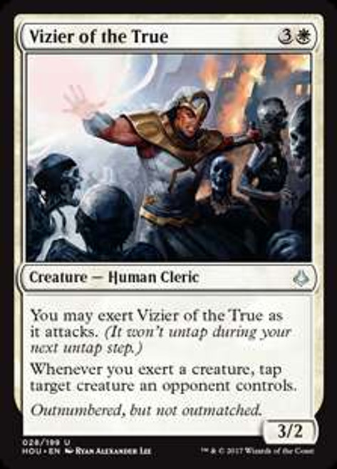 MtG Hour of Devastation Uncommon Vizier of the True #28