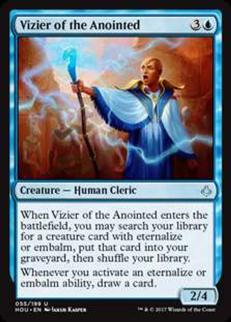 MtG Hour of Devastation Uncommon Vizier of the Anointed #55