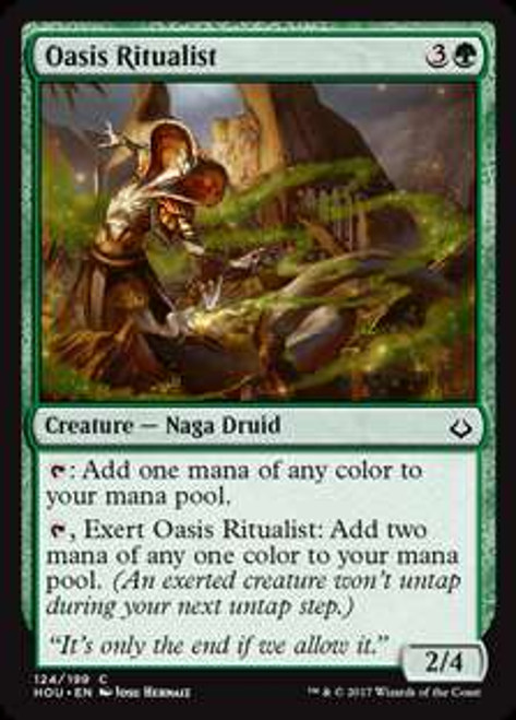 MtG Hour of Devastation Common Oasis Ritualist #124