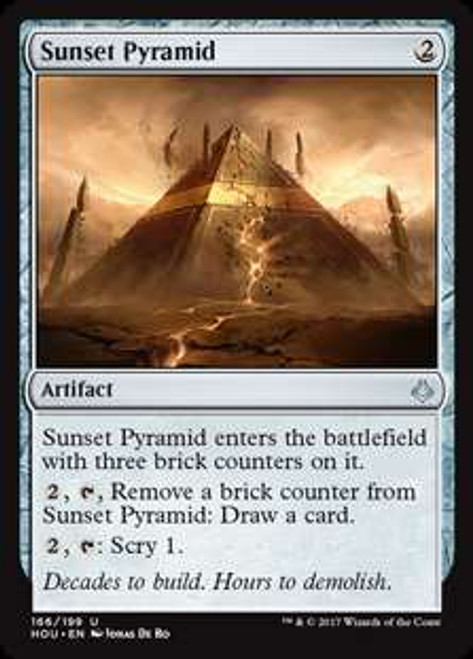 MtG Hour of Devastation Uncommon Sunset Pyramid #166