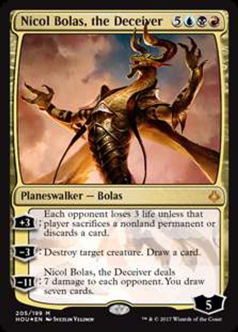 MtG Hour of Devastation Mythic Rare Nicol Bolas, the Deceiver #205