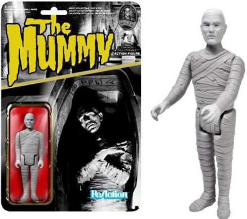 Funko Universal Monsters ReAction The Mummy Action Figure [Glow-in-The-Dark, Damaged Package]