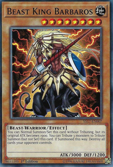 YuGiOh Starter Deck: Link Strike Common Beast King Barbaros YS17-EN007