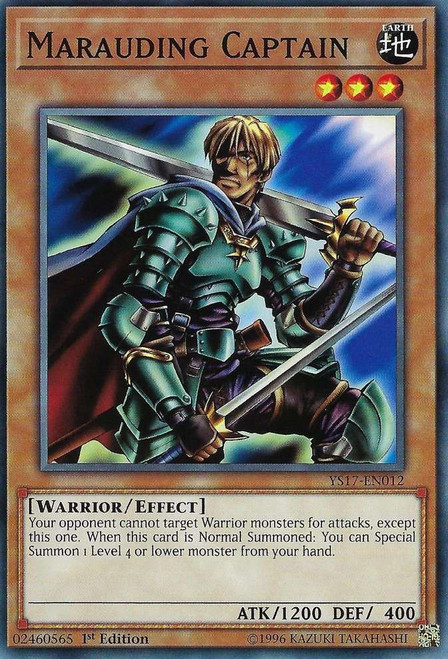 YuGiOh Starter Deck: Link Strike Common Marauding Captain YS17-EN012