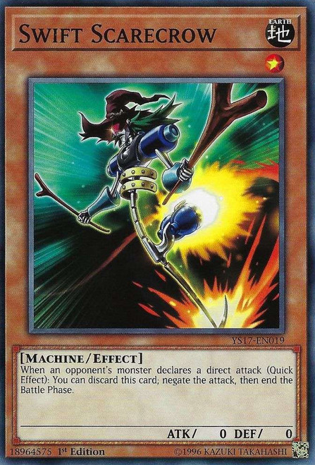 YuGiOh Starter Deck: Link Strike Common Swift Scarecrow YS17-EN019