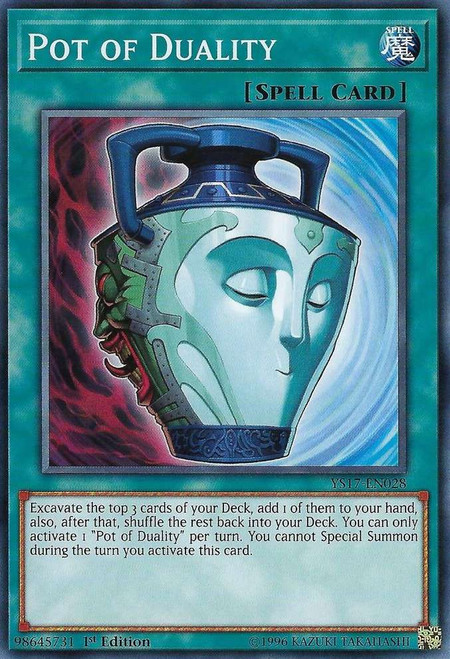 YuGiOh Starter Deck: Link Strike Common Pot of Duality YS17-EN028