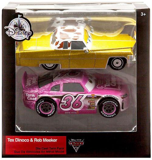 Disney / Pixar Cars Cars 3 Tex Dinoco & Reb Meeker Exclusive Diecast 2-Pack [Damaged Package]