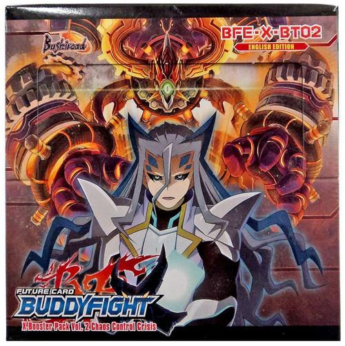 Future Card BuddyFight Trading Card Game Chaos Control Crisis Vol. 2 Booster Box BFE-X-BT02
