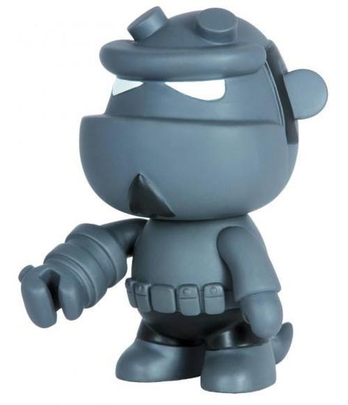 Hellboy Qee Gray Monotone 5-Inch Deluxe Mini Figure