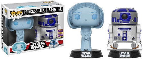 Funko A New Hope POP! Star Wars Princess Leia & R2-D2 Exclusive Vinyl Bobble Head 2-Pack