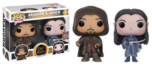 Funko Lord of the Rings POP! Movies Aragorn & Arwen Exclusive Vinyl Figure 2-Pack