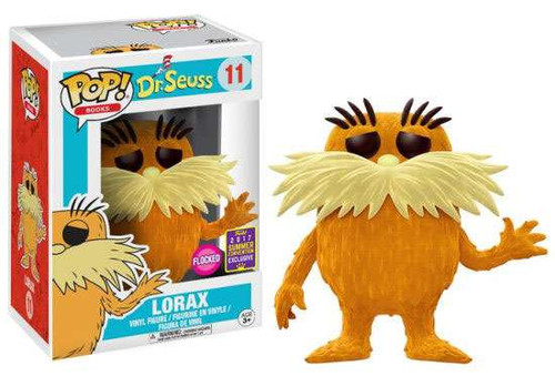 Funko Dr. Seuss POP! Books The Lorax Exclusive Vinyl Figure #11 [Flocked]