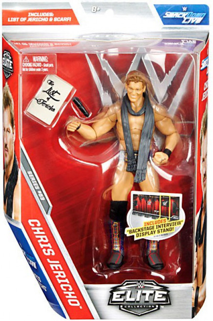 WWE Wrestling Elite Collection Series 53 Chris Jericho Action Figure [List of Jericho & Scarf]