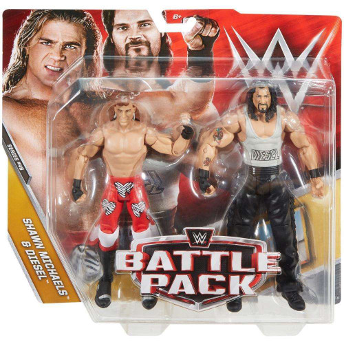 WWE Wrestling Battle Pack Series 48 Shawn Michaels & Diesel Action Figure 2-Pack
