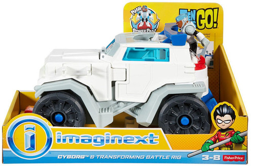 Fisher Price Teen Titans Go! Imaginext Cyborg & Transforming Battle Rig 3-Inch Figure Set