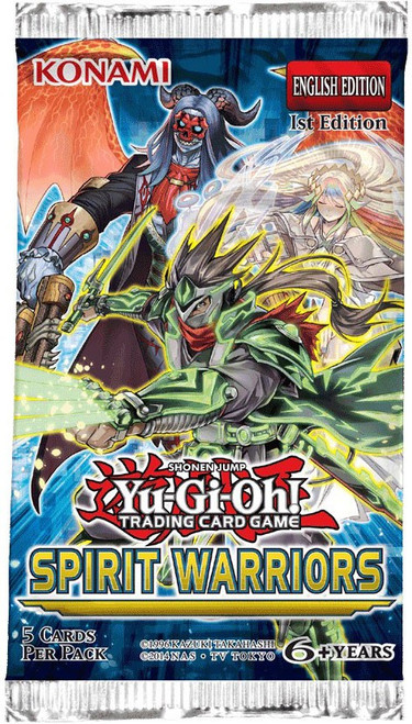 YuGiOh Trading Card Game Spirit Warriors Booster Pack [5 Cards]