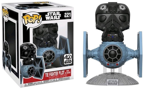 Funko POP! Star Wars TIE Fighter with TIE Pilot Deluxe Vinyl Bobble Head #221