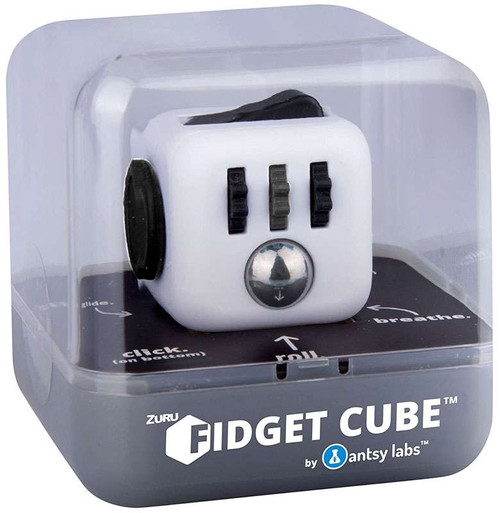 Fidget Cube Authentic White, Black & Gray Fidget Cube