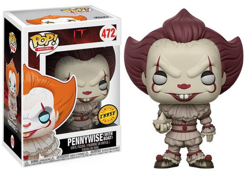 Funko IT Movie (2017) POP! Movies Pennywise (with Boat) Vinyl Figure #472 [Sepia Colored, Chase Version]