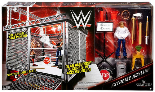 WWE Wrestling Network Spotlight Extreme Asylum with Dean Ambrose Exclusive Playset