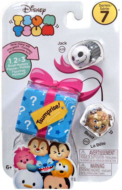 Disney Tsum Tsum Series 7 Jack & Beast 1-Inch Minifigure 3-Pack #429 & 617