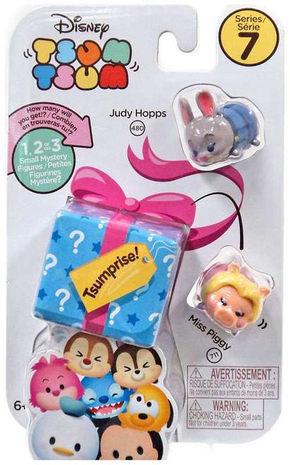 Disney Tsum Tsum Series 7 Judy Hopps & Miss Piggy 1-Inch Minifigure 3-Pack #480 & 711