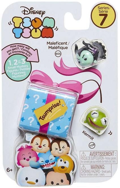 Disney Tsum Tsum Series 7 Maleficent & Kermit 1-Inch Minifigure 3-Pack #605 & 708