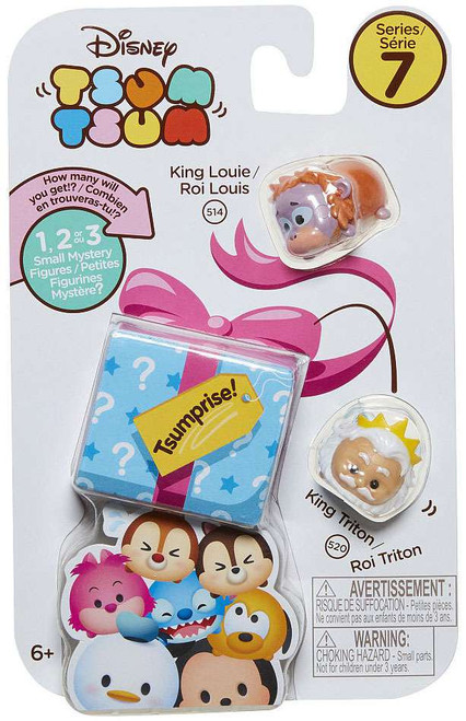 Disney Tsum Tsum Series 7 King Louie & King Triton 1-Inch Minifigure 3-Pack #514 & 520